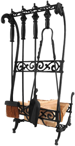 Companion Set & Basket (Black)