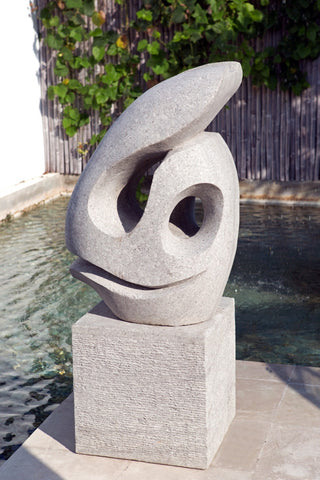 Fish Face Sculpture