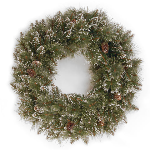 "Sparkling Pine 24"" Artificial Wreath"