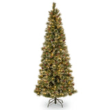 Sparkling Pine 7.5ft Artificial Christmas Slim Tree
