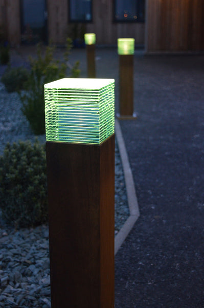 Hardwood & Glass Bollard
