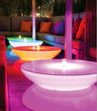 Round Light Drinks Table