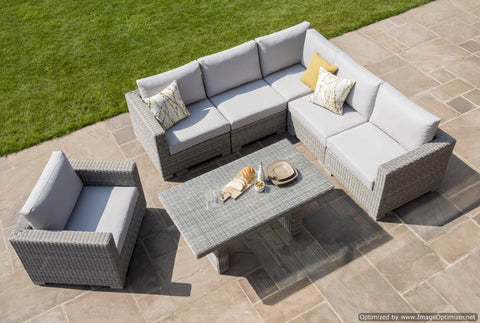 Maui Corner Lounge Set (grey)