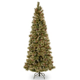 Sparkling Pine 9ft Artificial Slim Christmas Tree