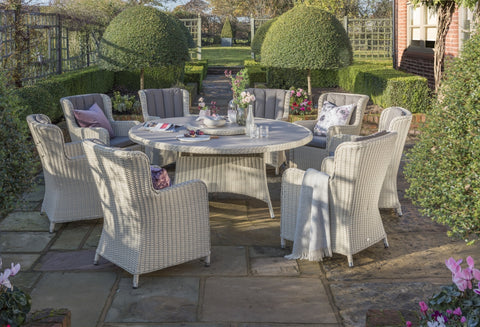 Queen Eight Seat Dining Set