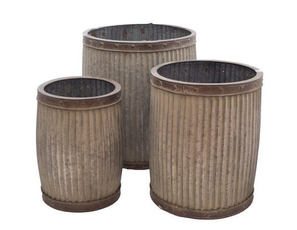 Large Round Planter ( Set Of 3)