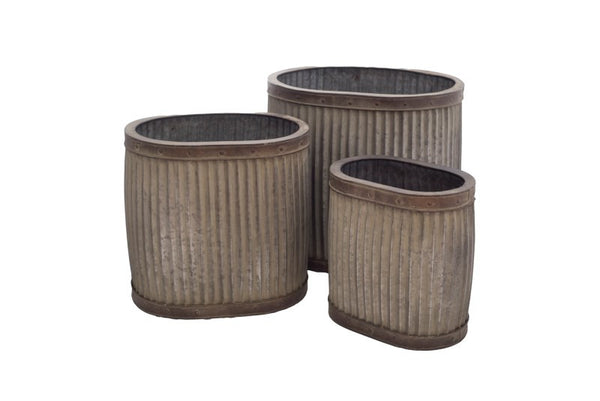 Large Oval Planter ( Set Of 3 )