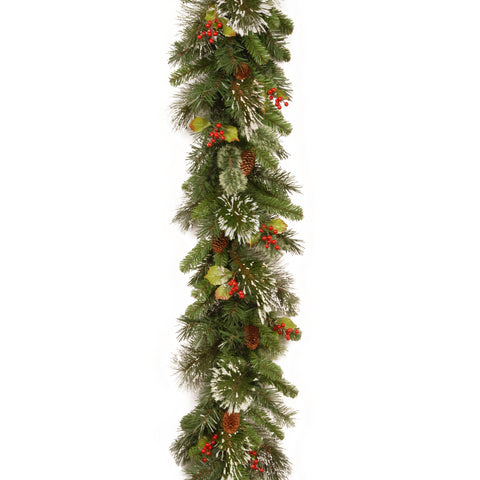 "Woodbury Pine 10"" x 9ft Artificial Garland"