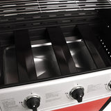 Stainless Steel 3 Burner Gas BBQ - Black or Red