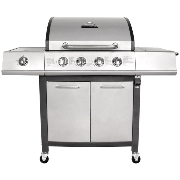 5 Burner Premium Gas BBQ - Grey or Black