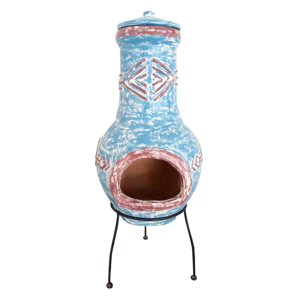 Large Aztec Clay Chimenea Heater