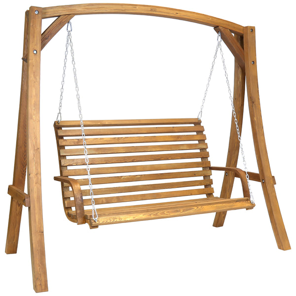 2-3 Seater Larch Wood Swinging Bench