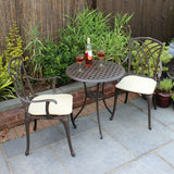3 Piece Cast Aluminium Bistro Set