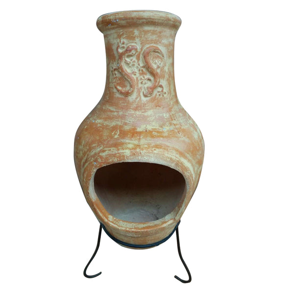 Large Terracotta Clay Chiminea Heater