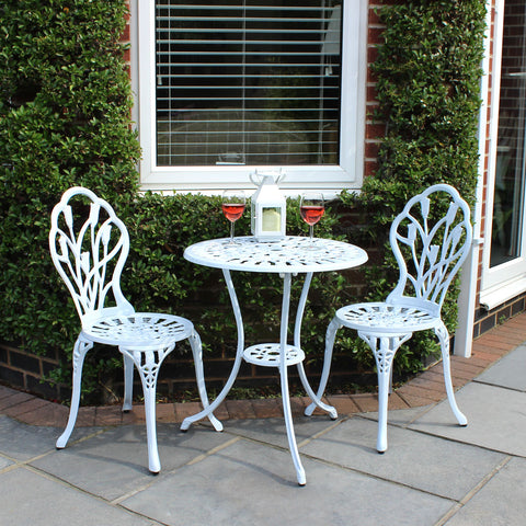 3 Piece Tulip Cast Aluminium Patio Bistro Set