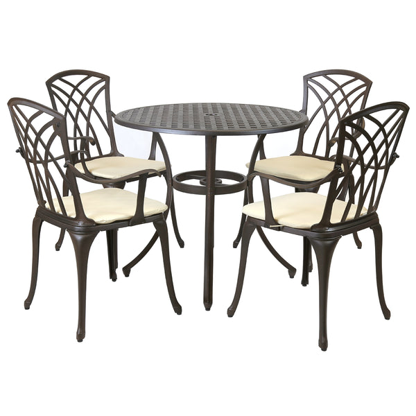 Cast Aluminium 5 Piece Patio Set