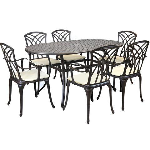 Cast Aluminium 7 Piece Dining Set