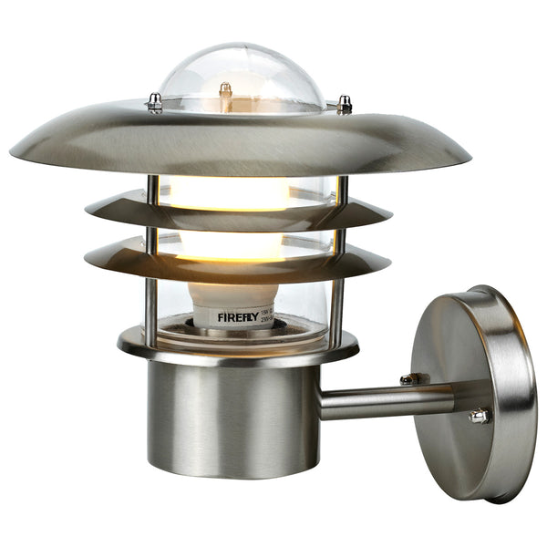 Modern Silver Stainless Steel Security Wall Light