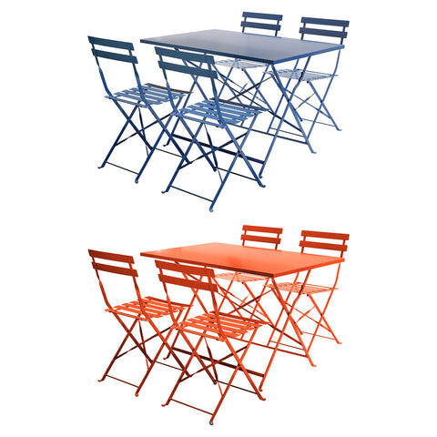 4 Seater Rectangular Folding Dining Set