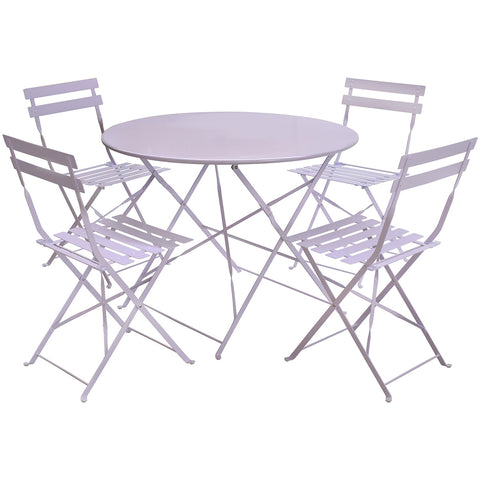 4 Seater Metal Dining Set