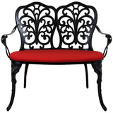 Black Cast Aluminium Patio Bench