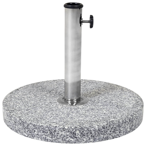 15Kg Round Granite Parasol Base Stone Umbrella Stand