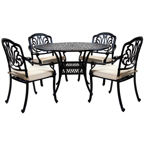 Premium Cast Aluminium 4 Seater Dining Set
