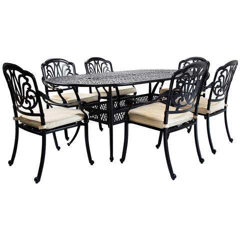 Premium Cast Aluminium 7 Piece Dining Set