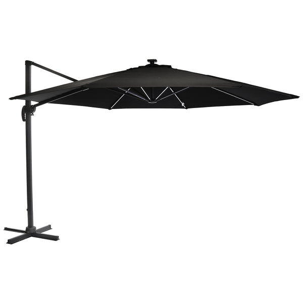 3.5m Round Rome LED Umbrella Parasol