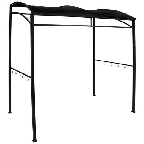 Rectangle BBQ Gazebo - Black