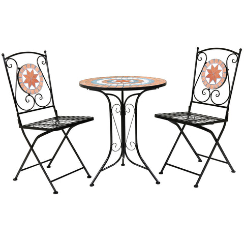 2 Seater Terracotta Mosaic Bistro Set
