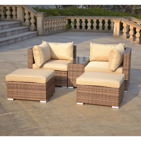 Verona 2/3 Seater Rattan Lounge Set