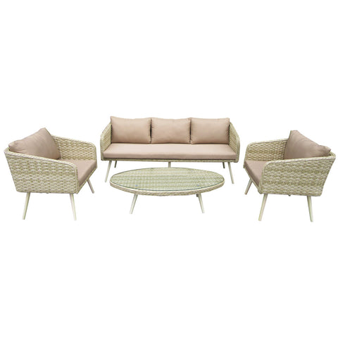 Roma Premium Rattan lounge Set Natural Sand