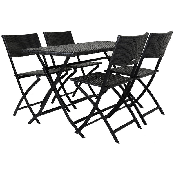 Amalfi 5 Piece Rattan Dining Set - Grey