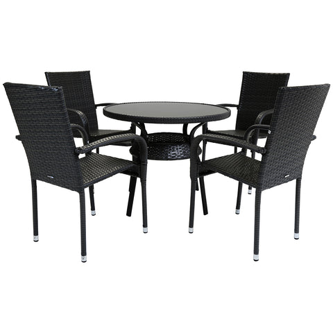 Amalfi 4 Seater Rattan Dining Set