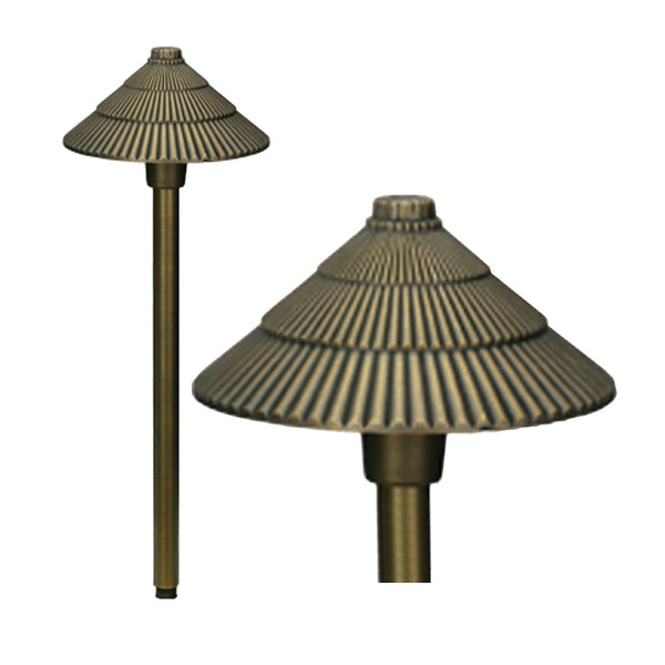 Bronze 12v Round Pagoda Light - Aged Bronze