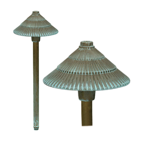 Bronze 12v Round Pagoda Light - Verdigris