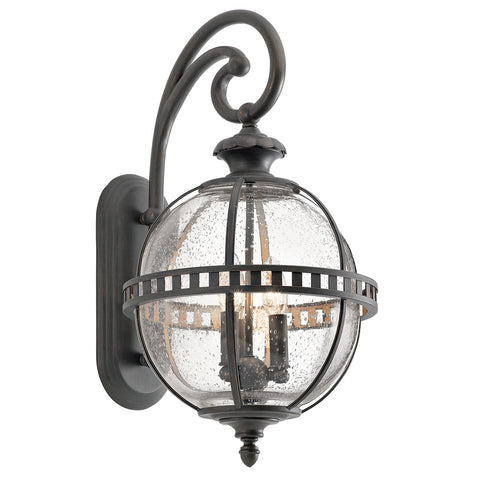 Halleron 3 Light Outdoor Wall Lantern