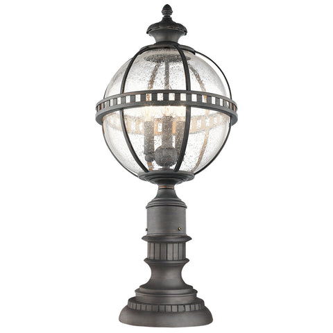 Halleron 3 Light Outdoor Pedestal Lantern