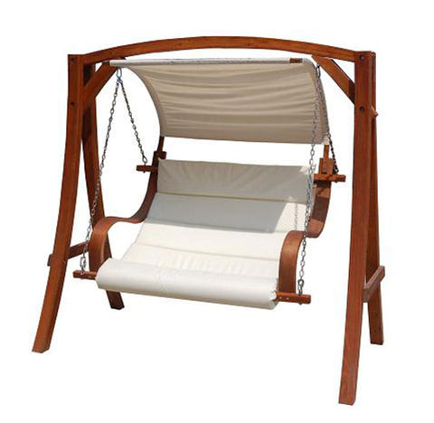 2-3 Seater Larch Wooden Outdoor Swing Seat