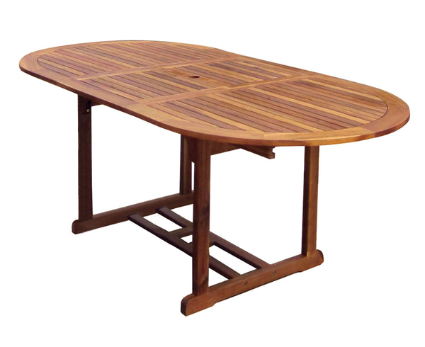 Hardwood Large Oval Extendable & Foldable Table
