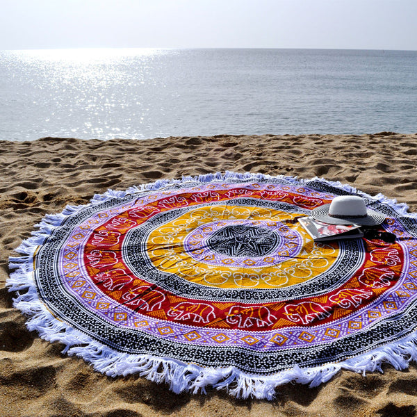Mosaic Multicolour beach Roundie