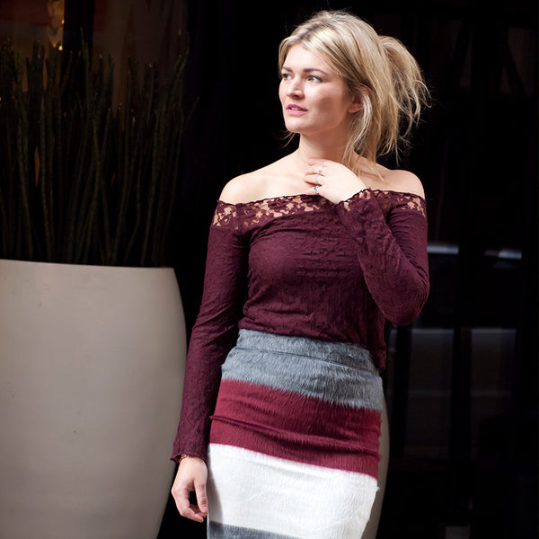 Sia lace Top Burgundy