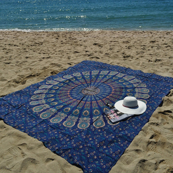 Moonlight beach throw