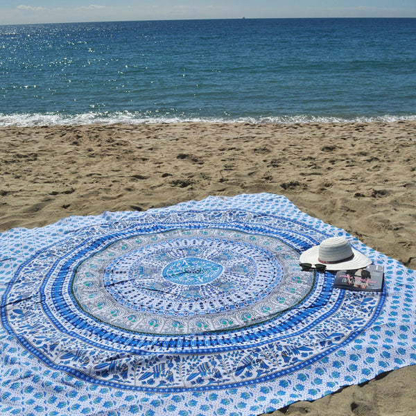 Wanderlusting Blue Beach Throw