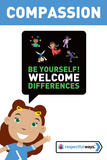 Be Yourself! Welcome Differences -  Let's Chat Conversation Card
