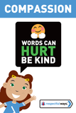 Words Can Hurt – Be Kind -  Let's Chat Conversation Card