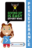 Giving Up Is Easy, Effort Wins! -  Let's Chat Conversation Card