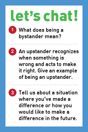 Stick Up For Each Other – Be The Change -  Let's Chat Conversation Card