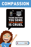 Think Before You Send – Cyberbullying Is Cruel -  Let's Chat Conversation Card